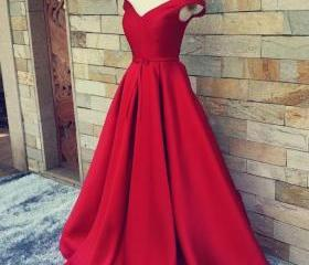 Off-the-shoulder Red..