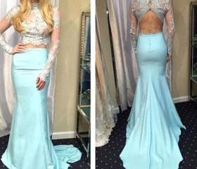 High Neck Prom Dress..