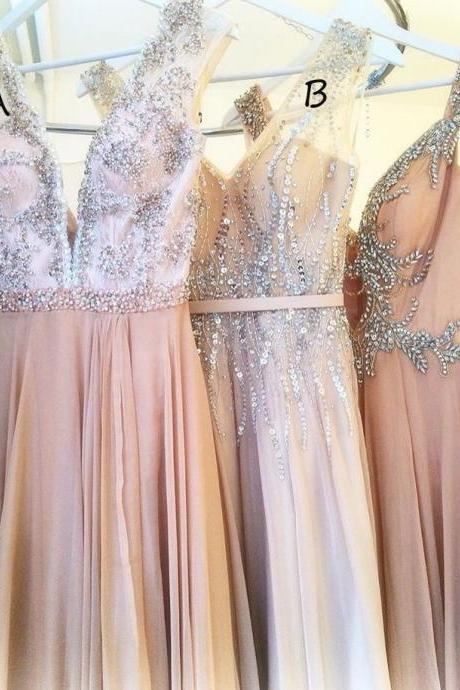 Elegant Prom Dress,Beading Evening Dress,Sleeveless Prom Dresses,Long Prom Dress