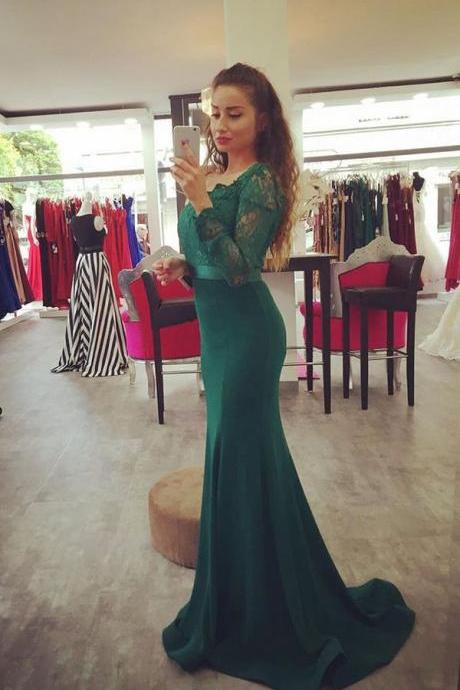 Long Sleeves Prom Dresses,Mermaid Prom Dresses,Long Prom Dress,Prom Dresses For Teens,Elegant Prom Dresses,Green Prom Dress,Simple Prom Dress,Cheap Prom Dress,Party Dresses