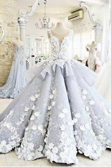 Pretty Ball Gown Prom Dresses,Princess Wedding Dresses,Modest Wedding Dress.Evening Dresses,Bridal Dresses