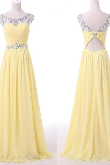 Long Chiffon Prom Dresses,Elegant Pretty Prom Gowns,Party Gowns,Charming Modest Evening Gowns,Bridesmaid Dresses