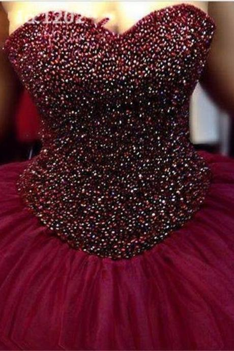 Ball Gown Prom Dress,Tulle Prom Dresses,Evening Formal Dress,Evening Gown,Women Dress,P439