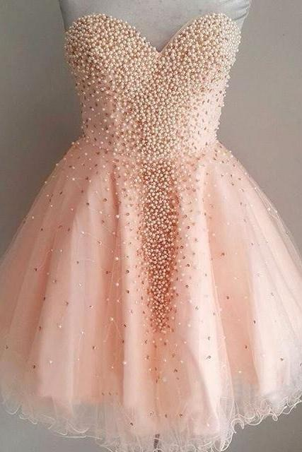 Pretty Homecoming Dresses,Beading Homecoming Dress,Girly Short Prom Dresses,H659
