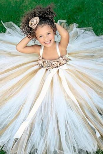 Tulle Flower Girl Dress,Flower Girl Dresses,Little Girl Bridesmaid Dresses,Girl Pageant Gowns,Wedding Party Gowns,Kids Evening Dresses,FG1184