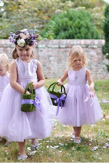 Formal Flower Girl Dresses Children Birthday Dress Tulle Kids Wedding Party Dresses,FG1186