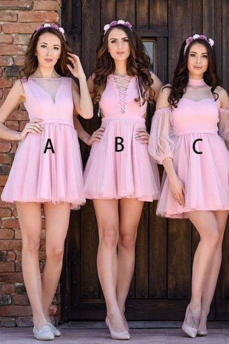 Bridesmaid Dress Sexy, Bridesmaid Dress Pink,B2698