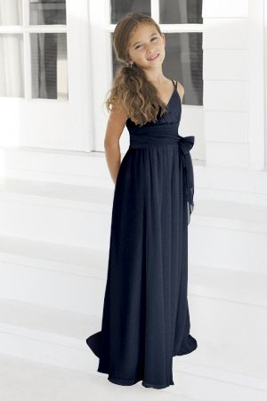 Navy Blue Prom Dress,Simple Flower Girl Dress,Custom Made Evening Dress