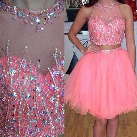 Charming Prom Dress,Two Piece Prom Dress,Short Homecoming Dress, Cute homecoming prom dresses,Short Prom Dresses,Cocktail Dress