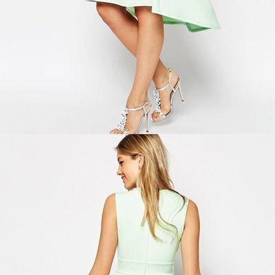 Simple Mint Green Satin Asymmetrical Short Homecoming Dress,H1650