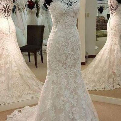 Wedding dresses,high neck wedding dresses, bridal gown,lace wedding dresses,gorgeous wedding dress,custom made wedding dresses,W2753